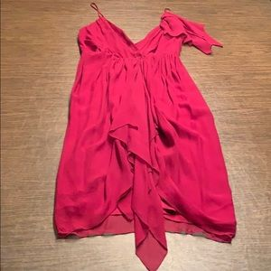 Alice + Oliva Wine Colored Wrap Dress
